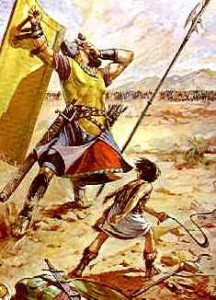 david and goliath 216x300 Biblical Highlights for Young Children