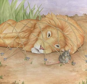 lion mouse 300x291 Classics for Young Children and Family Reading