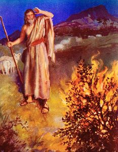 moses bush 233x300 Biblical Highlights for Young Children