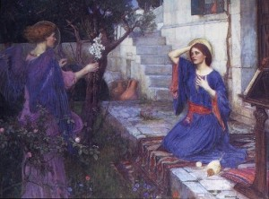 waterhouse the annunciation 300x222 Biblical Highlights for Young Children
