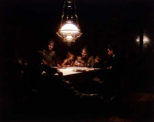 family reading by the lamplight 300x239 2012 End of Year Bonus Issue: TJEd Inspire Newsletter