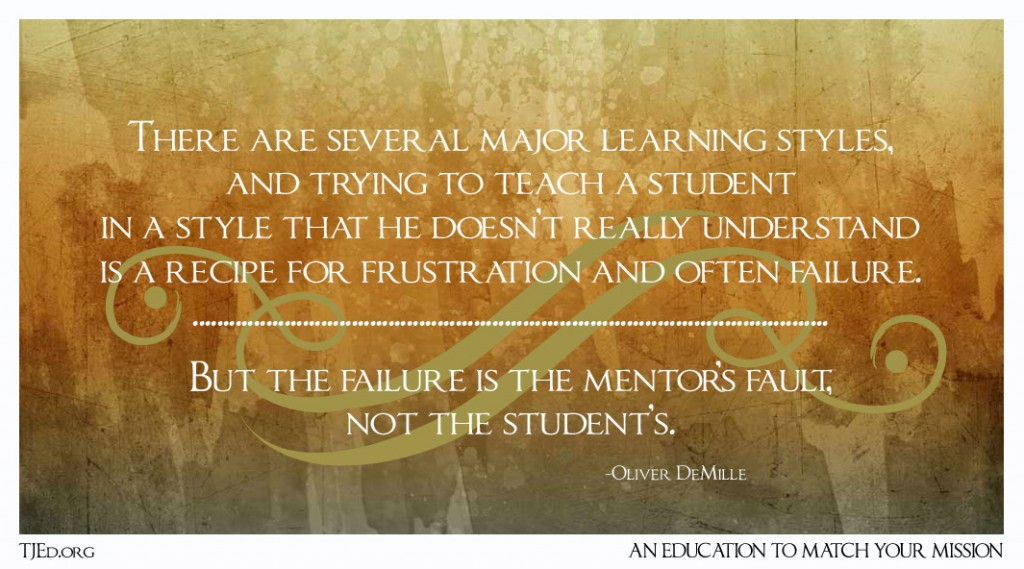 Learning Styles Matter Mentors failure 1024x569 Learning Styles Matter! The Weekly Mentor by Oliver DeMille