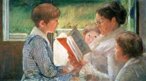 "Mary Cassatt, ""Reading to Children"""