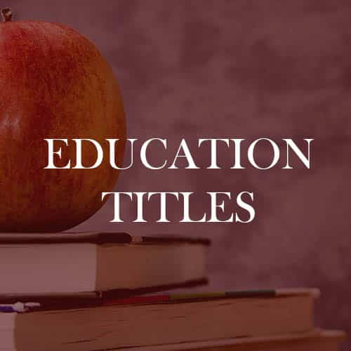 Education Titles